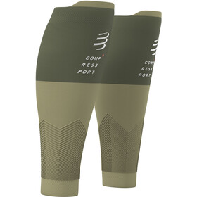 Compressport R2V2 Manchons de compression pour mollets, dusty olive